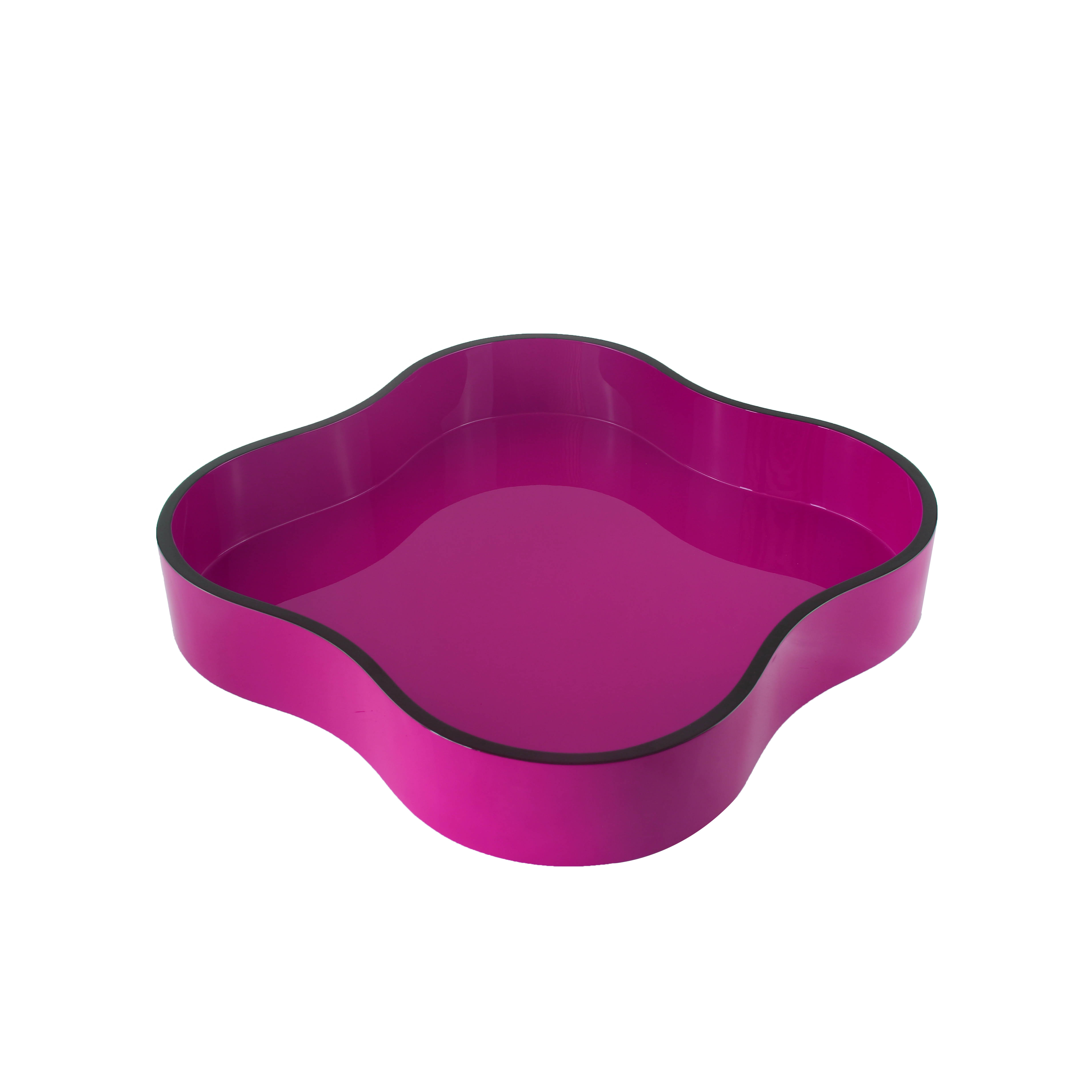 Clover Shaped Lacquer Tray