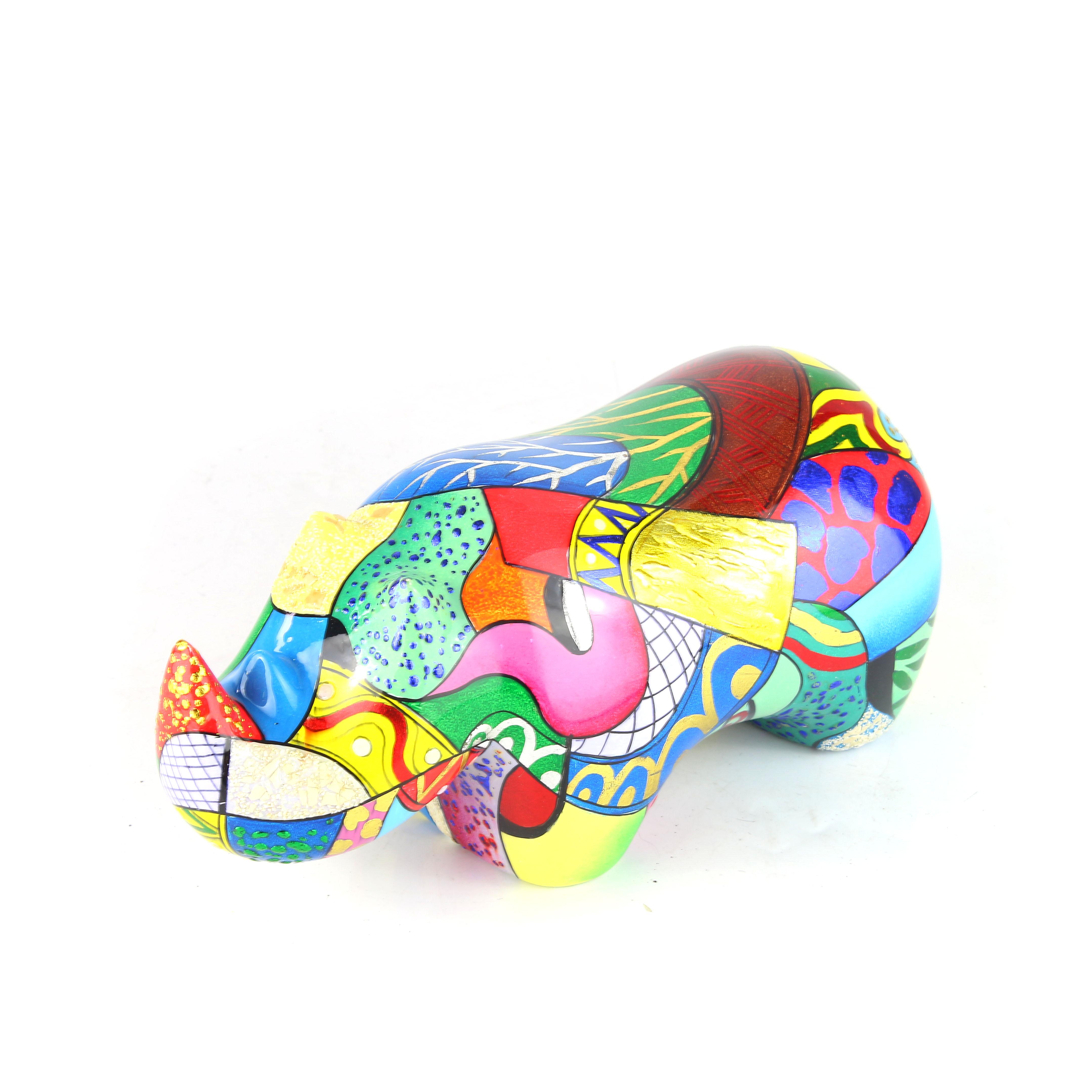 Painting Rhino Sculpture