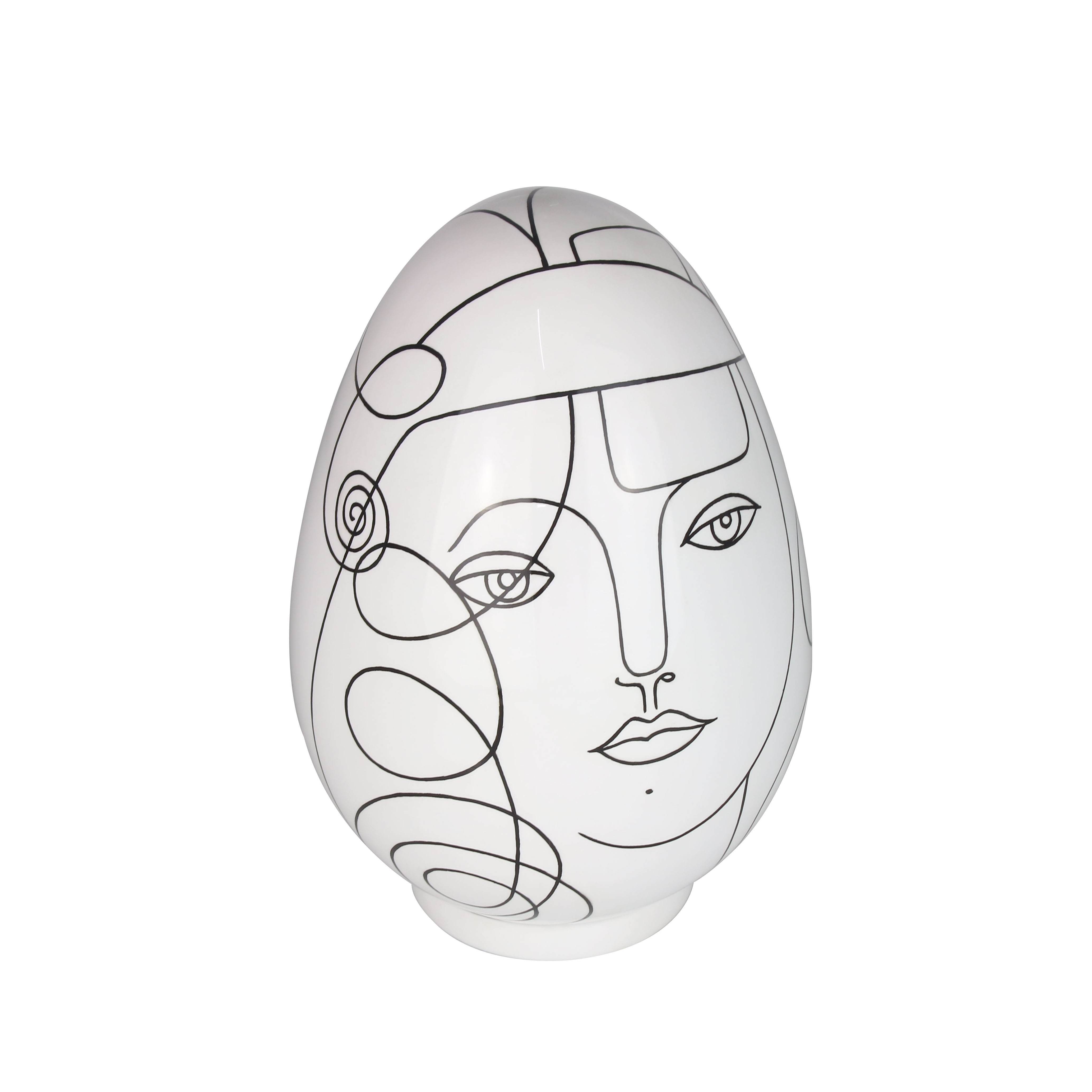 Handpainted Egg Sculpture