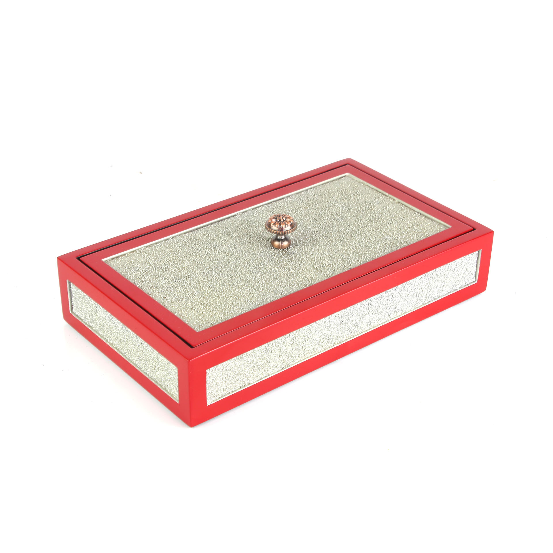 Lacquer Box with Brass Handle