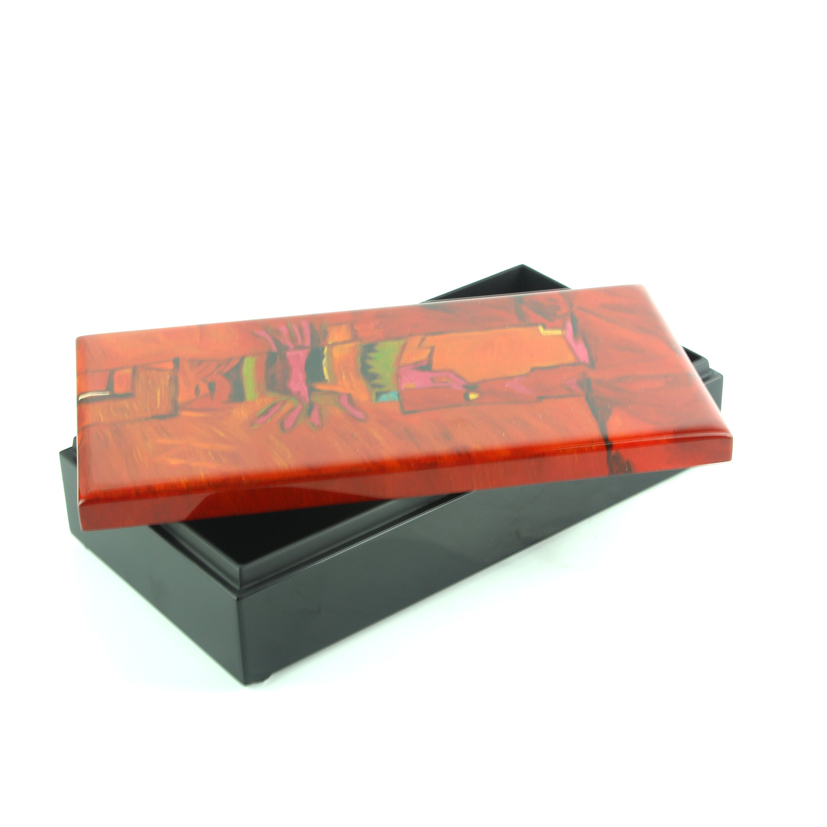 Abstract Lacquer Box