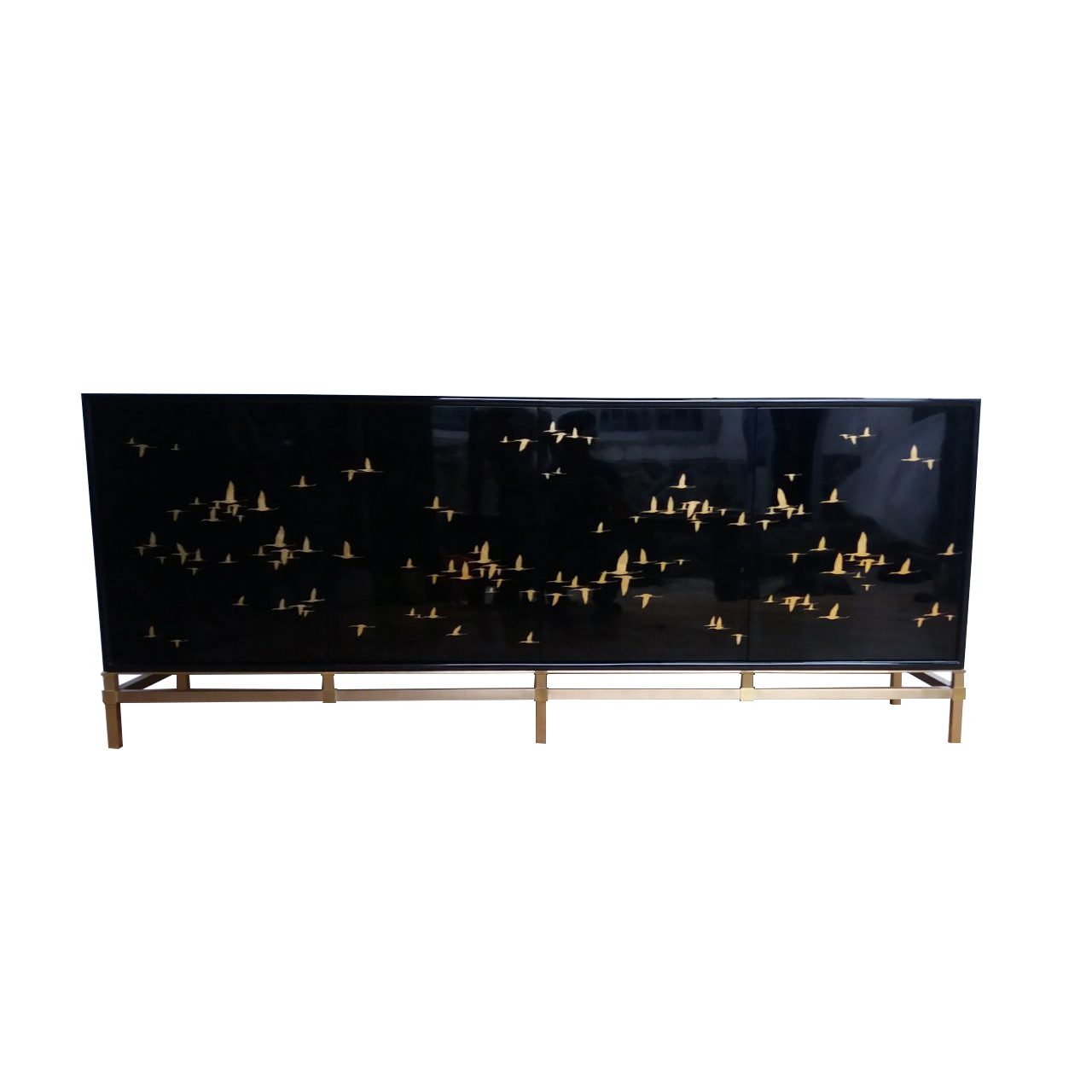 Cabinet with Brass Base Frame