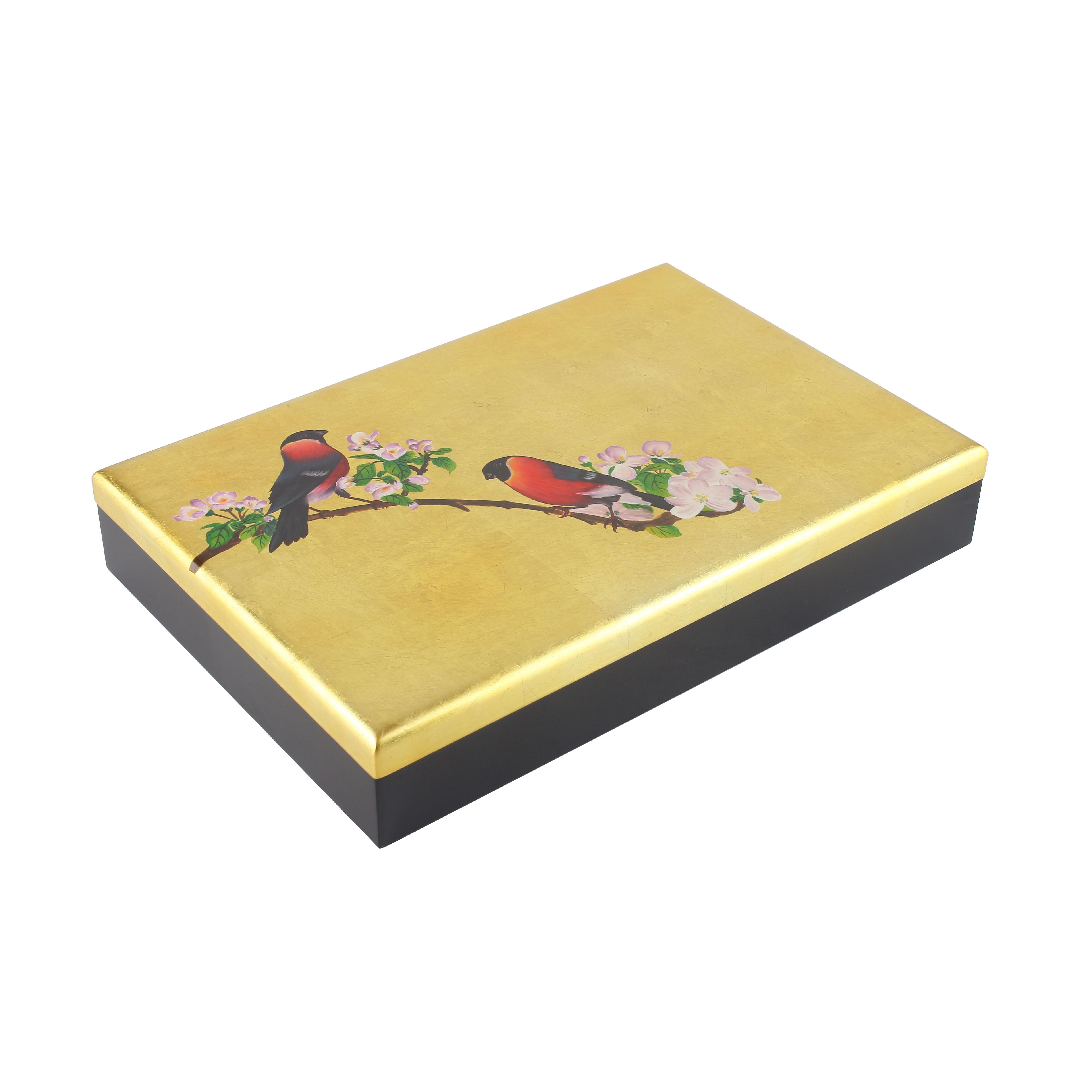 Handpainted Gold Inlay Box