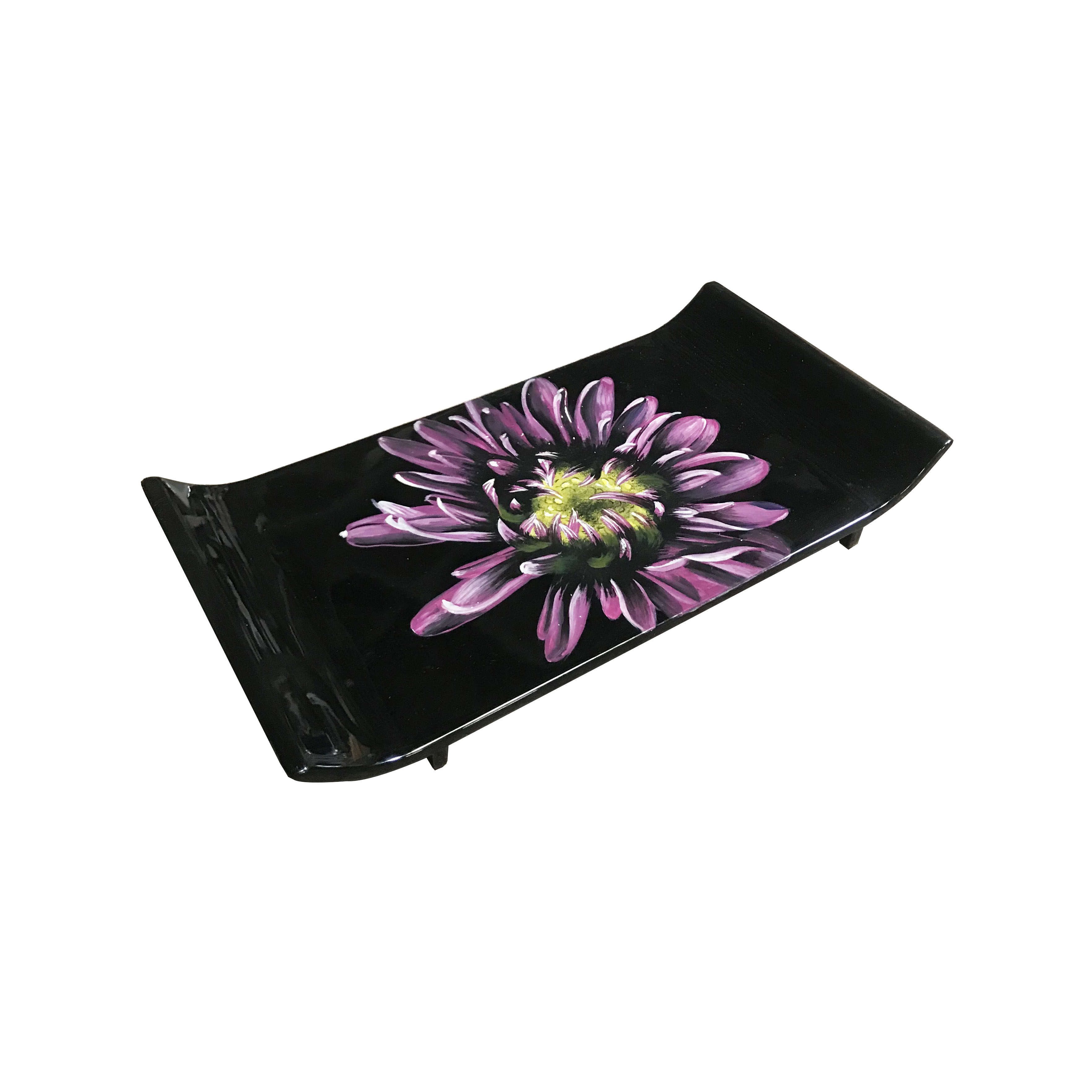 Hand-painted Flower Lacquer Tray