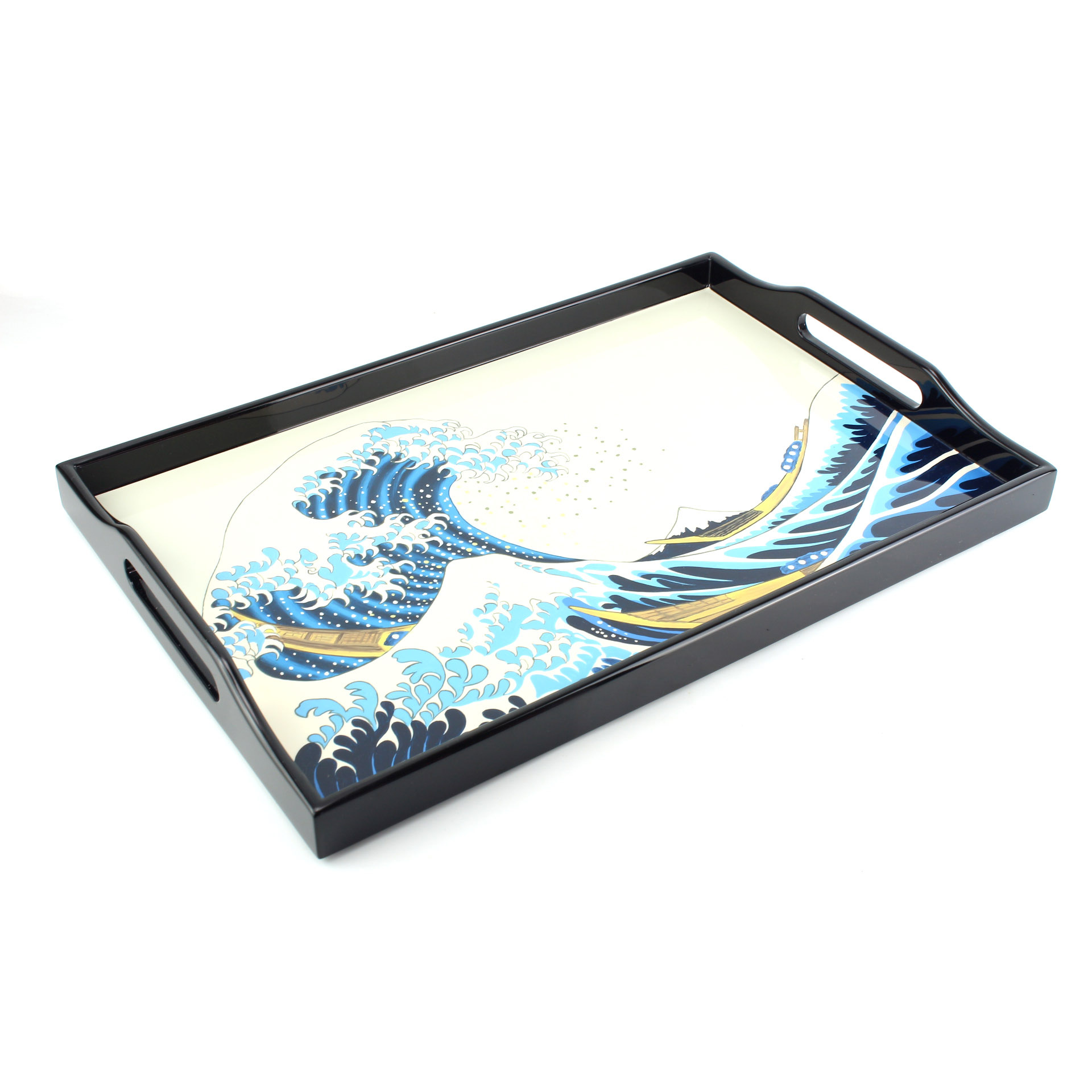 'The Great Wave' Lacquer Tray