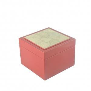 Coaster Box with Eggshell Inlay