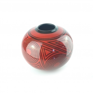 Jean Dunand Lacquer Vase