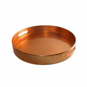 Metallic Color Round Lacquer Tray