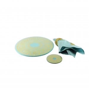 Set of Plate, Coaster, Towel Holder