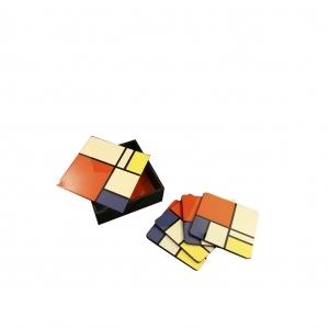 Modrian Coaster (Set of 6)
