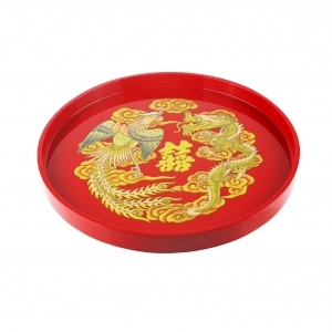Song Hỷ Round Lacquer Tray