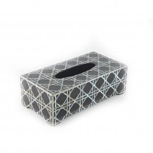 MOP Inlay Tissue Box