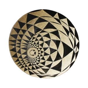 Eggshell Inlay Large Plate