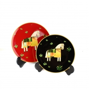 Handpainted Horse Plate
