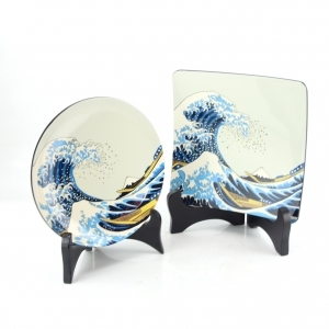 'The Great Wave' Handpainted Plate